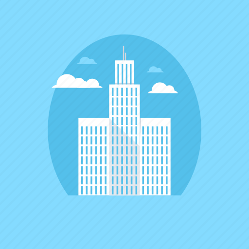flats, office, office block, office building, skyscraper icon