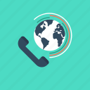call, conference call, global conference call, globe, telecommunication icon