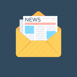 email, email message, letter, newsletter, newspaper icon