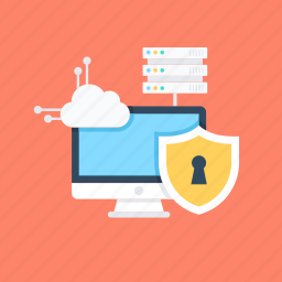 data protection, network protection, server protection, server security, web security icon
