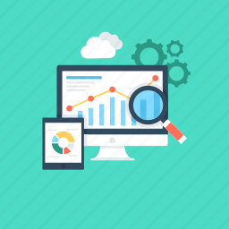 infographics, online graph, optimization, search engine optimization, seo icon