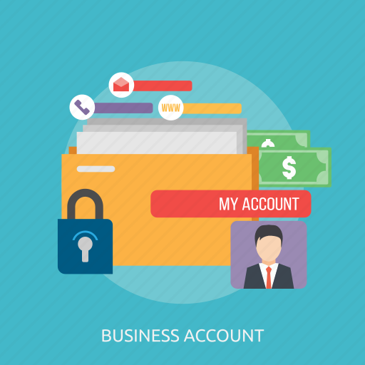 account, business, business account, log in, man, money, website icon