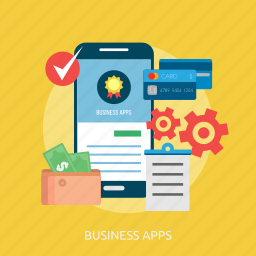business, business apps, card, medal, money, phone, success icon
