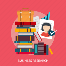 bag, book, business, chart, paper, research, success icon