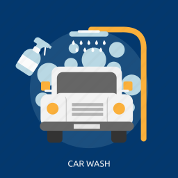 bubble, business, car, car wash, foam, water icon