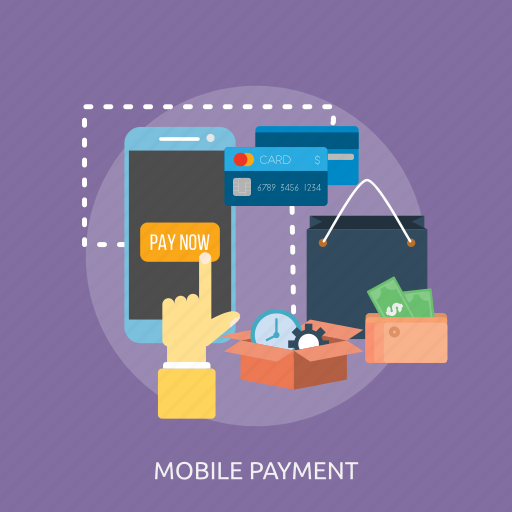 bag, card, mobile, money, pay now, payment, time icon