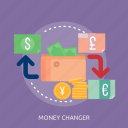 bank, dollar, money, money changer, purse