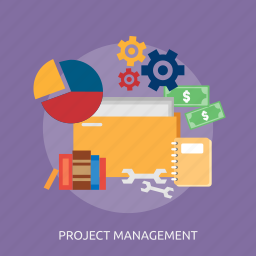 book, management, money, process, project, setting, storage space icon