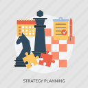 calendar, check, game, pen, planning, puzzle, strategy icon
