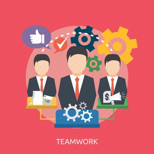 leader, like, money, paper, process, success, teamwork icon