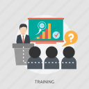 chart, member, participant, speaker, success, training icon