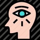 brain, eye, smart, vision icon