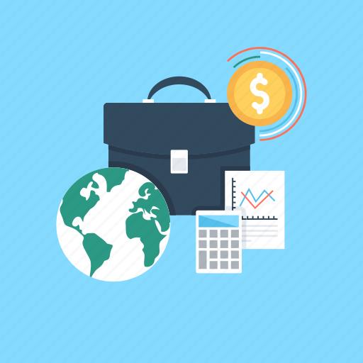 dollar, economy, finance, global, worldwide business icon