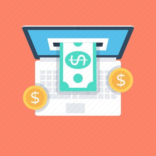 e commerce, make money, online banking, online job, online work icon