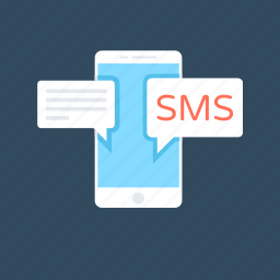 chat, mobile chat, sms, sms marketing, talk icon