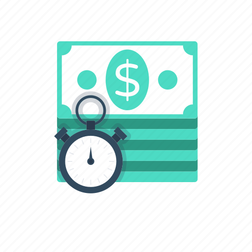 banknotes, investment, investment time, time is money, timer icon