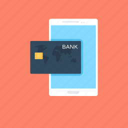 banking, credit card, mobile, mobile payment, online payment icon