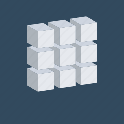 cube molecule, cube shape, three d cube, three d design, three d model icon