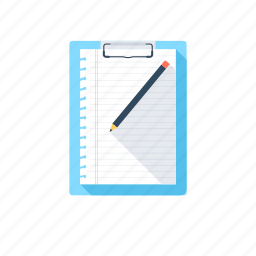 article, clipboard, memo, order list, paper icon