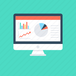 business report, business statistics, online graph, online report, statistics icon