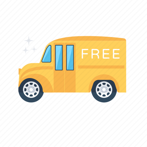 cargo, delivery service, delivery van, free delivery, transportation icon