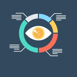 analytics, data analytics, pie chart, seo graph, statistics icon