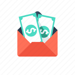 envelope, mobile banking, money, sms alert, sms banking icon