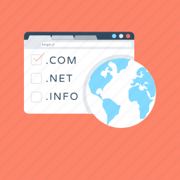 domain, domain registration, domain type, web domain, www icon