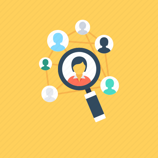 find people, focus group, human resource, magnifier, team icon