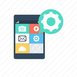 api, app development, application programming, mobile application, mobile ui icon