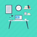 online work, studio, work desk, work studio, workstation icon
