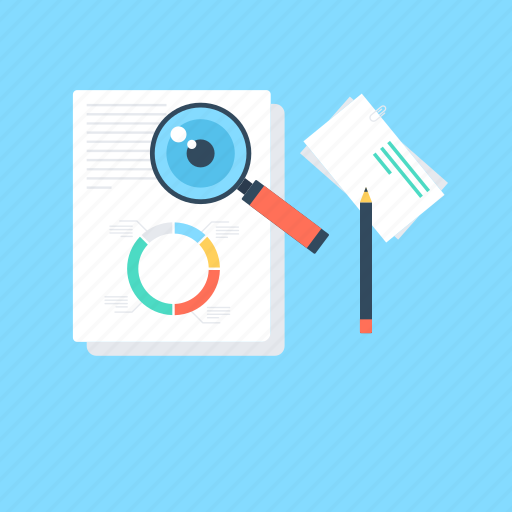analysis, assessment, evaluation, magnifying, review icon