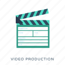 clapper, clapper board, movie maker, music clapperboard, video production icon