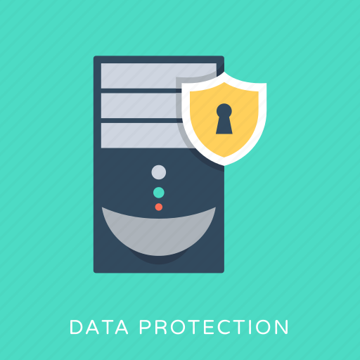 data server, database, security, security shield, server protection icon