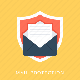 email protection, mail protection, mail security, safe communication, shield icon