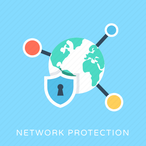 network firewall, network protection, network secrecy, security shield, server protection icon