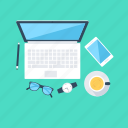 digital marketing, laptop, online marketing, task, workstation icon