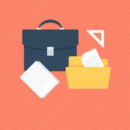 bag, business bag, businessman, folder, portfolio icon