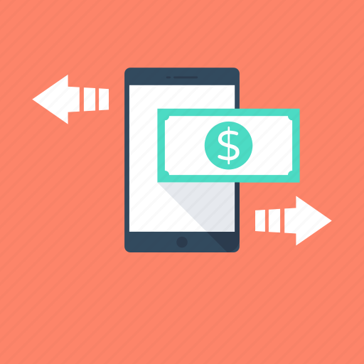 m commerce, mobile transaction, online business, online money, online transaction icon
