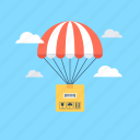 air logistic, commercial delivery, delivery, delivery balloon, shipping icon