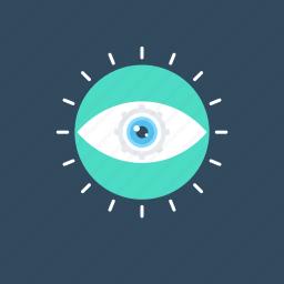 analysis, evaluation, eye, review, vision icon