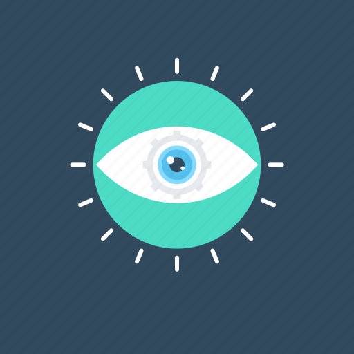 analysis, evaluation, eye, review, vision icon