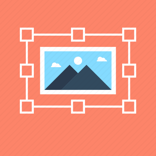 content, graphic design, image, photo, selection tool icon