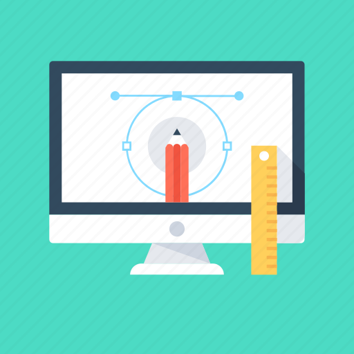 computer graphics, graphic design, monitor, web design, web designing icon