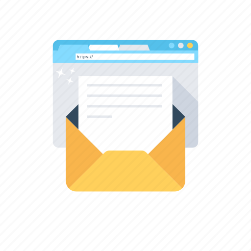 electronic marketing, email, email campaigns, email marketing, vpn marketing icon