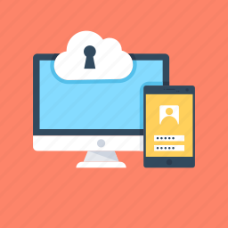 cloud computing, mobile security, network protection, network secrecy, server protection icon