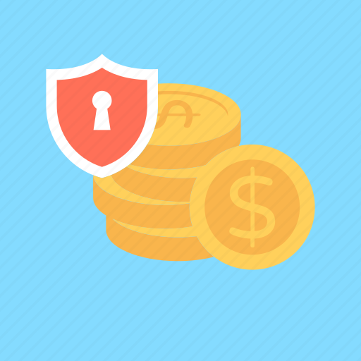 money protection, money safety, money shield, safe banking, safe investment icon