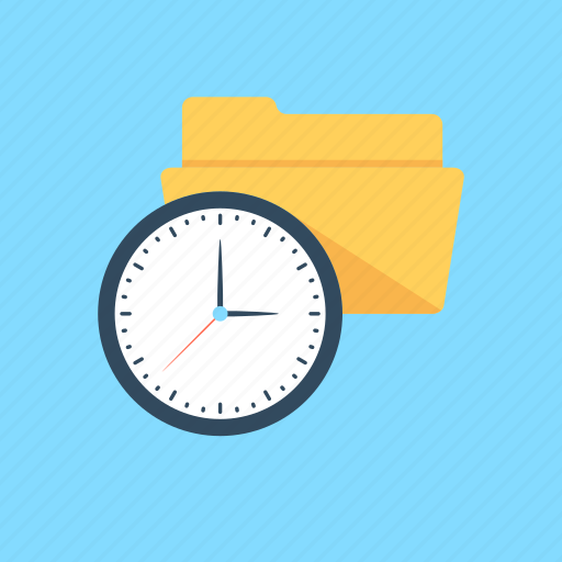 folder, processing, processing folder, time schedule, timer icon