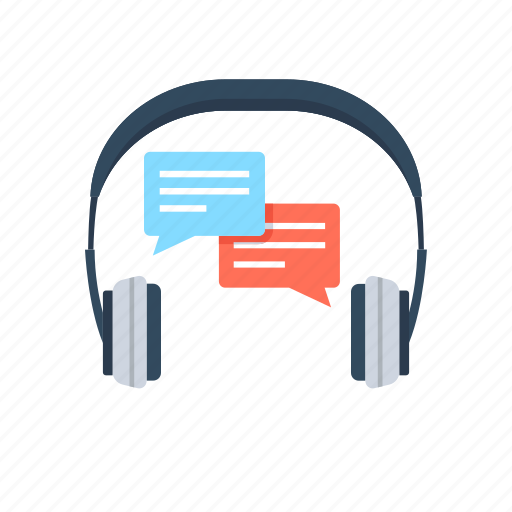 chat bubble, customer representative, customer service, headphone, music icon