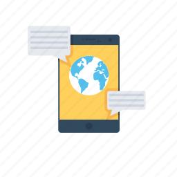 cyberspace, globe, social media, social network, worldwide icon